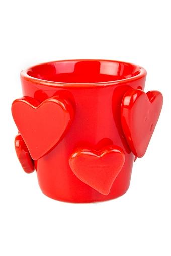 """Кашпо для цветов Красный куб Кашпо для цветов """"Объемные сердца"""""""