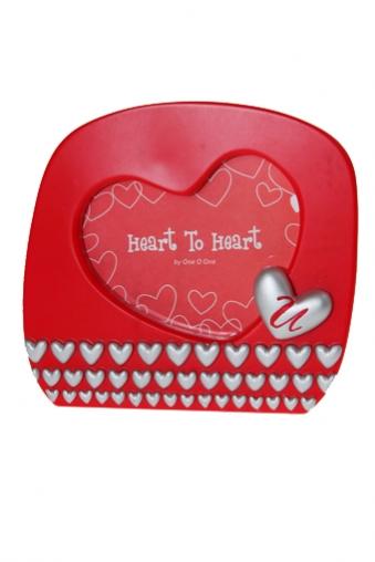 """Пластиковые фоторамки Красный куб Рамка для фото """"Любовь в серебре"""""""