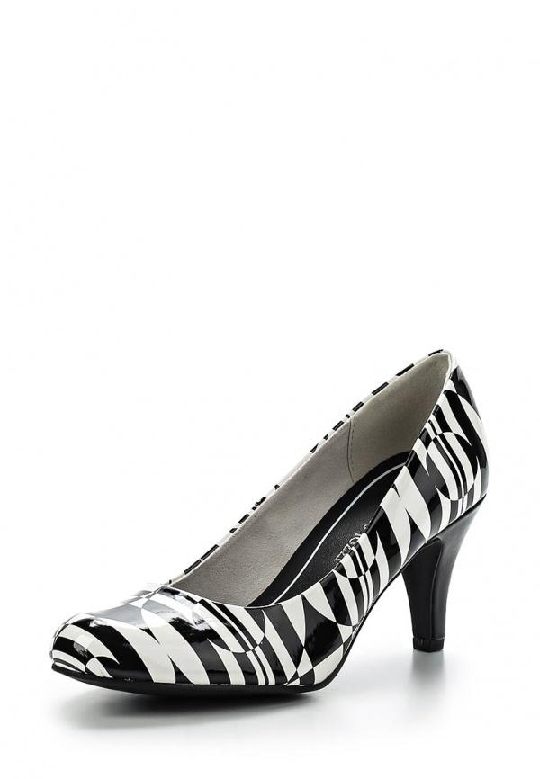 Туфли Marco Tozzi 2-2-22429-24-005 белые, чёрные