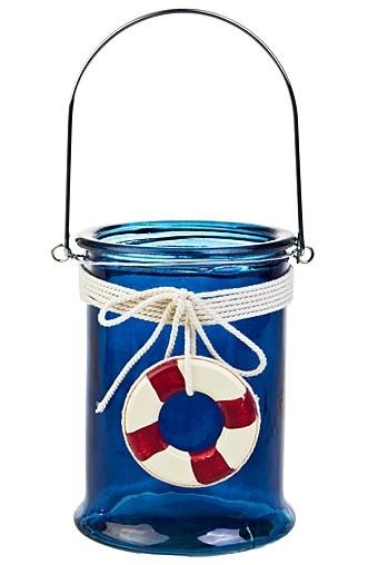 """Стеклянные вазы и кашпо Красный куб Ваза для цветов """"Морская волна"""""""