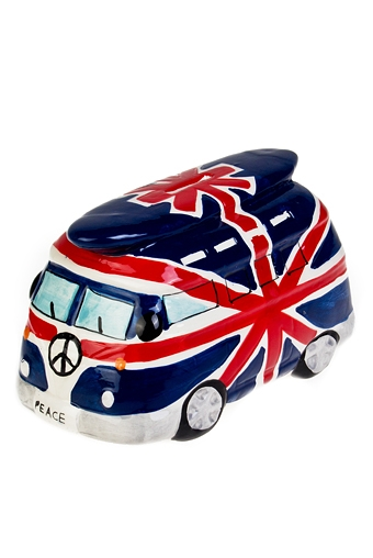 """Копилки и сейфы Красный куб Копилка """"Автобус в Англию"""""""