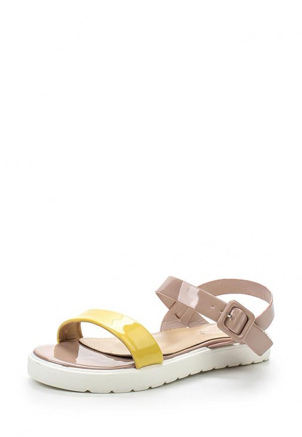 Сандалии Stephan P-569 жёлтые, розовые