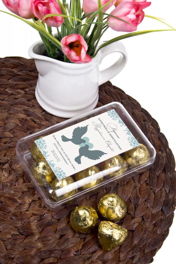 """Оригинальные и Необычные подарки Красный куб Коробка шоколадных конфет """"На Свадьбу"""""""