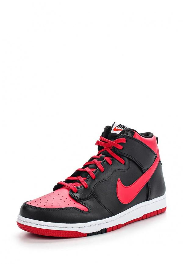 Кеды Nike 705434-600 красные, чёрные
