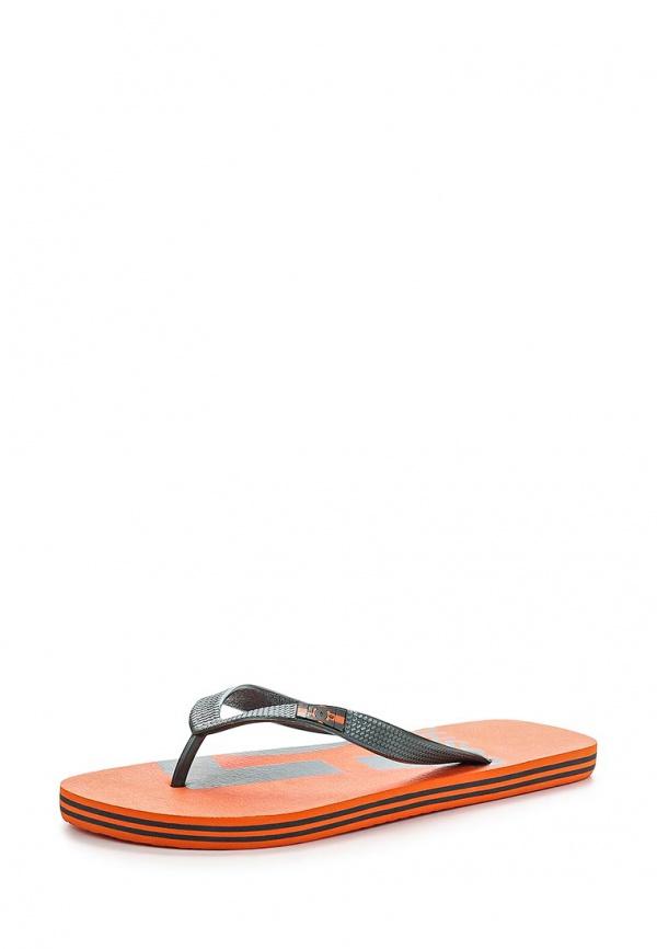 Сланцы DC Shoes ADYL100006 оранжевые, серые