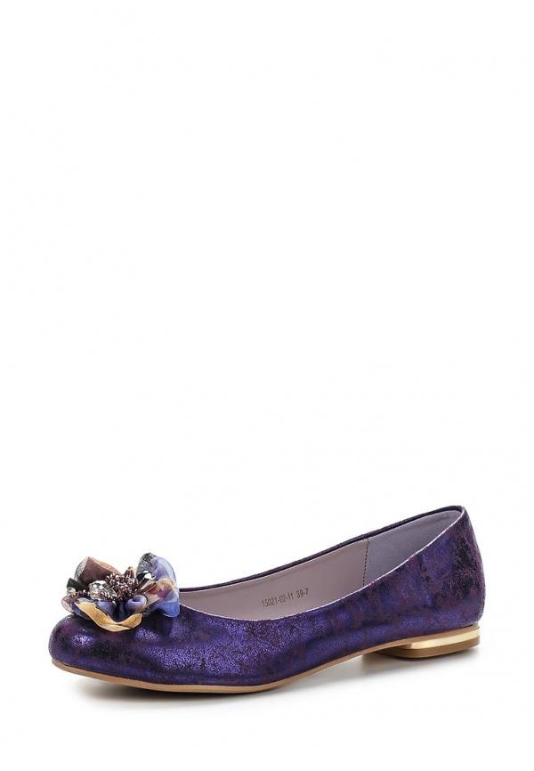 Балетки Inario 15021-02-11 фиолетовые