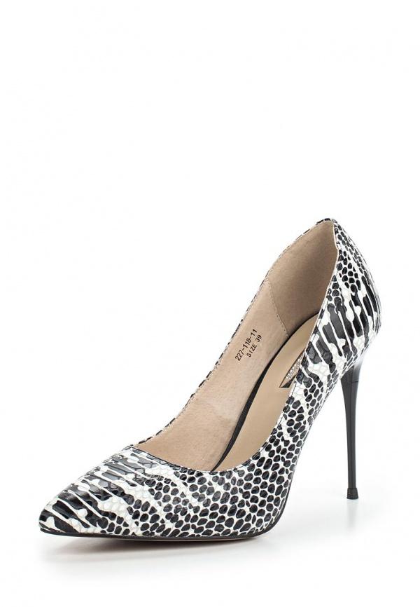 Туфли Dino Ricci 227-118-11 белые, чёрные