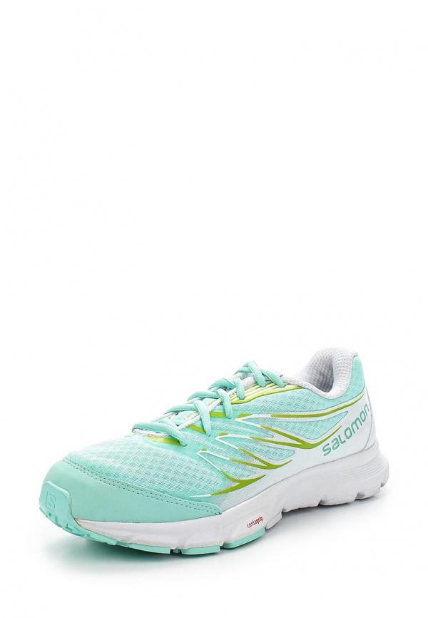 Кроссовки Salomon L37090000 белые, зеленые