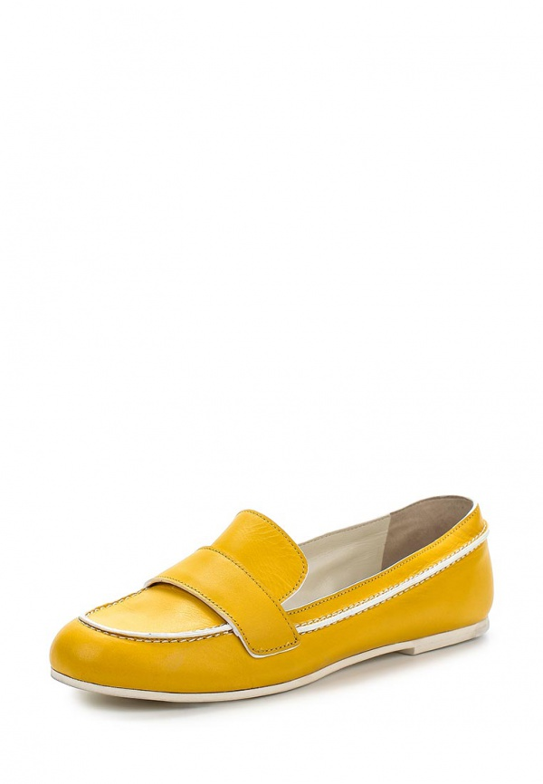 Лоферы Jil Sander Navy JN24017 жёлтые