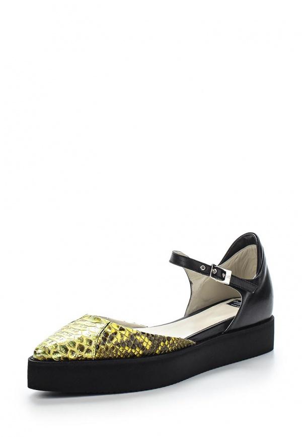 Туфли Roberto Botticelli BX17546 жёлтые, чёрные