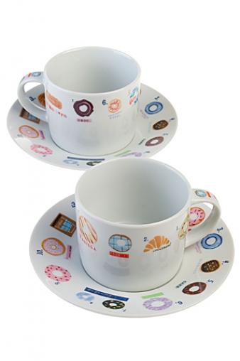 """Чайные пары Красный куб Набор чайных пар """"Сладости"""""""