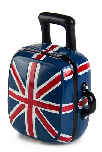 """Копилки и сейфы Красный куб Копилка """"Английский чемодан"""""""