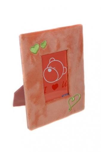 """Фоторамки для новорожденных и детские Красный куб Рамка для  фото """"Сердечко"""""""