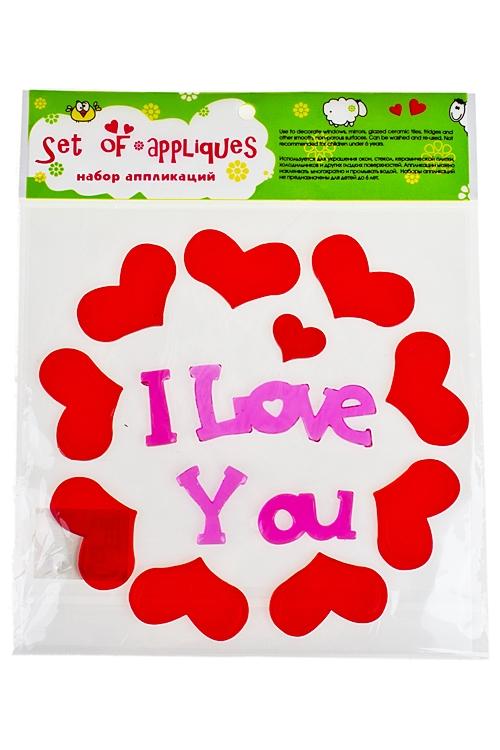 """Наклейки и аппликации Красный куб Набор аппликаций """"Послание любви"""""""
