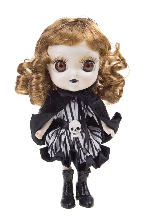 """Куклы ведьмы Красный куб Кукла декор. """"Ведьмочка с паучком"""""""