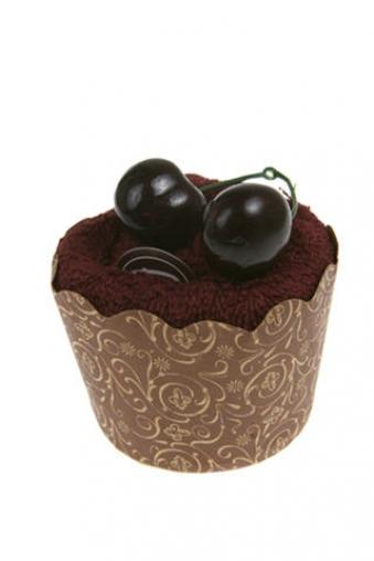 """Наборы для ванной Красный куб Набор подарочный """"Пирожное вишня-шоколад"""""""