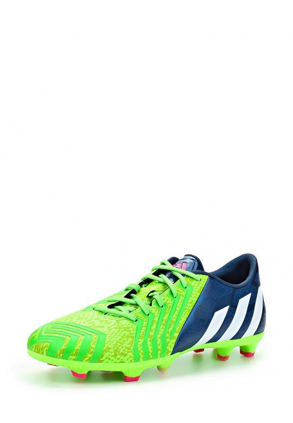 Бутсы adidas Performance M17630 зеленые, синие