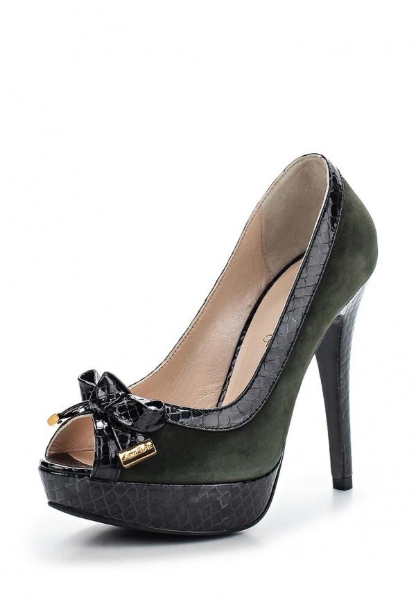 Туфли Marco Rizzi 25623 зеленые, чёрные
