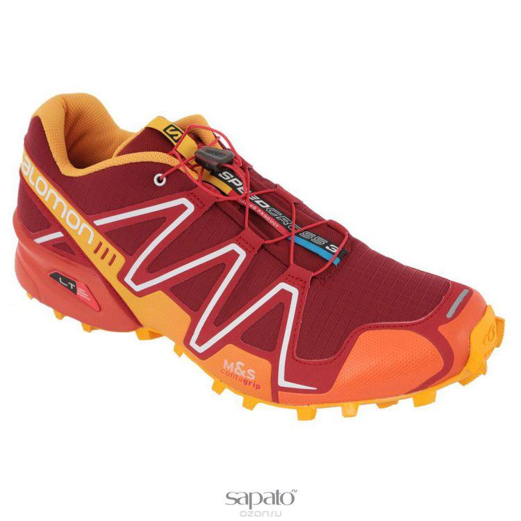 Кроссовки Salomon Кроссовки мужские для бега Speedcross 3 бордовые