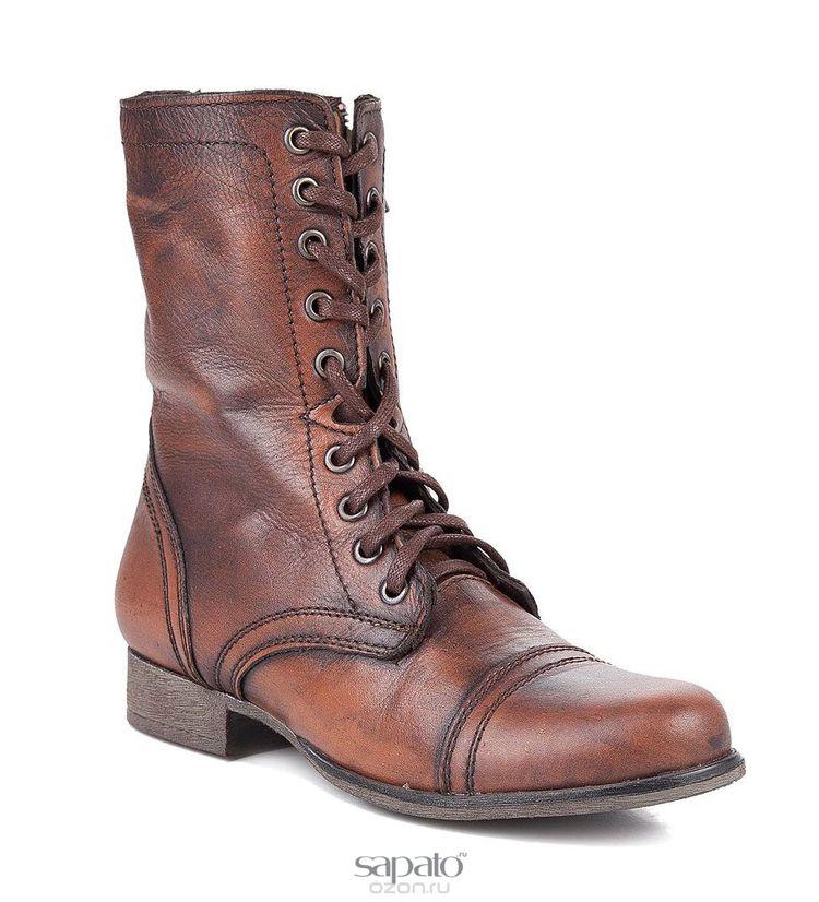 Ботинки Steve Madden Ботинки женские. TROOPA коричневые