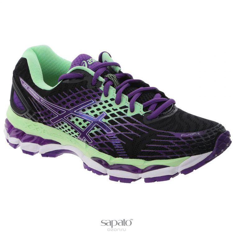 Кроссовки Asics Кроссовки женские для бега Gel-Nimbus 17 зеленые