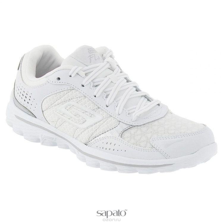 Кроссовки Skechers Кроссовки женские для бега Go Walk 2 Flash Furry серебристые