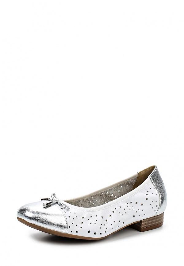 Балетки Caprice 9-9-22156-24-191 белые, серебристые