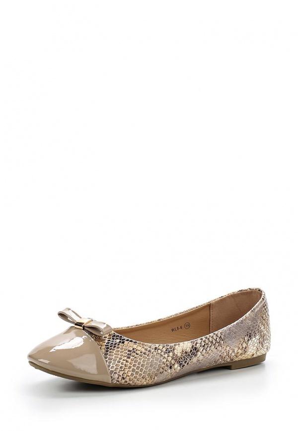 Балетки Alizea by WS Shoes WL 8-6 бежевые