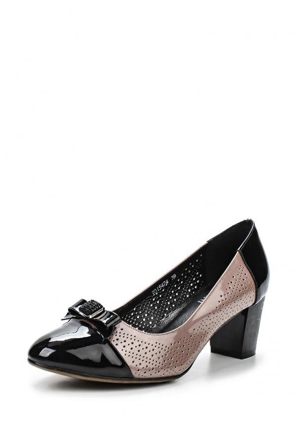Туфли Ascalini TO15474 бежевые, чёрные