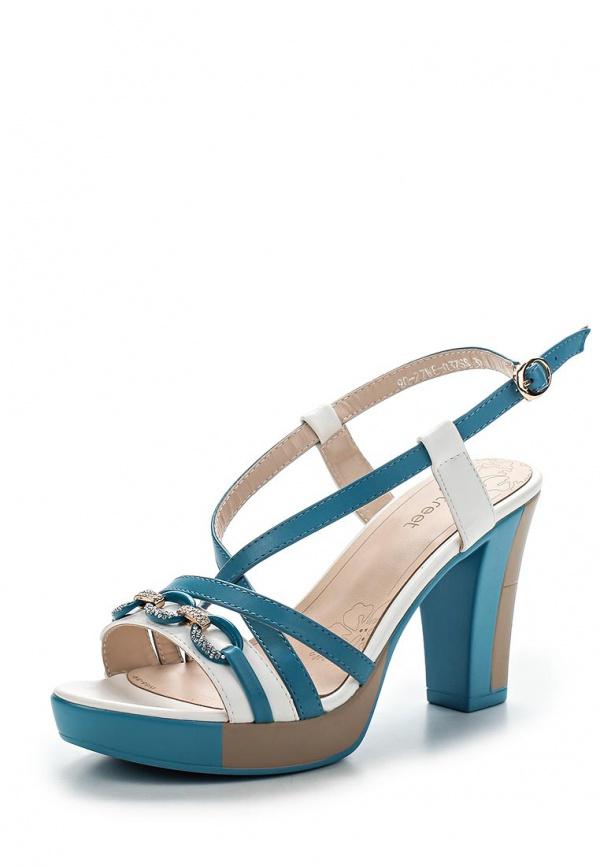 Босоножки Instreet 90-27WE-037SS белые, синие