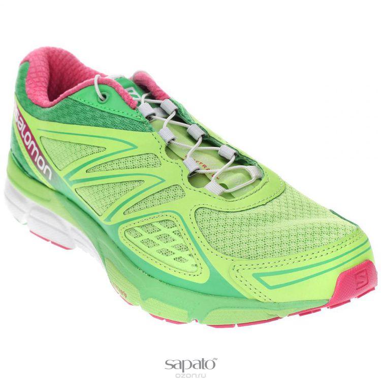 Кроссовки Salomon Кроссовки для бега жен. X-SCREAM 3D W зеленые