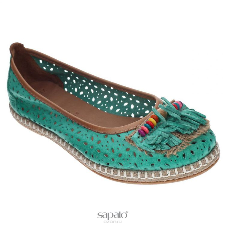 Туфли Grand Style Туфли летние. E-74 зеленые