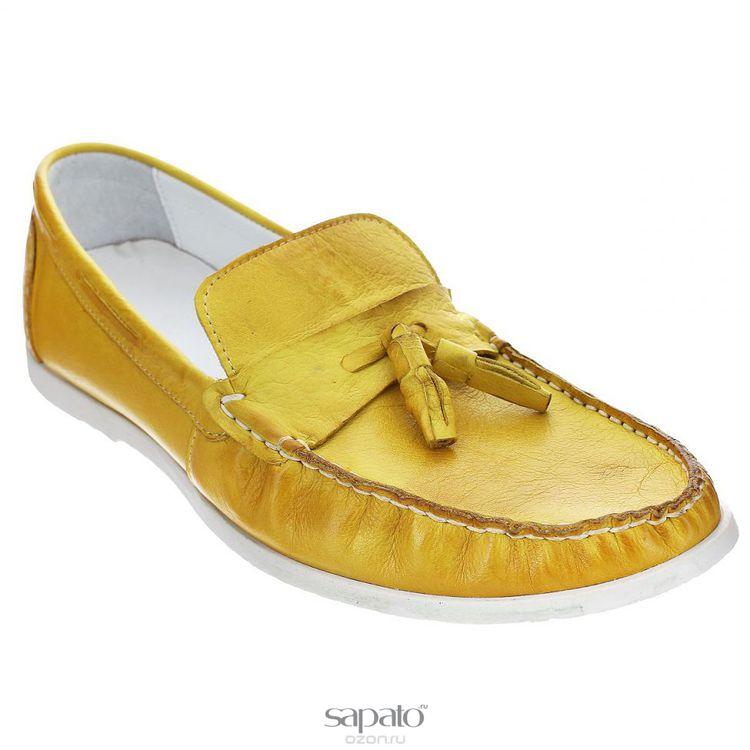 Мокасины Dino Ricci Мокасины мужские. 756-12-05 жёлтые