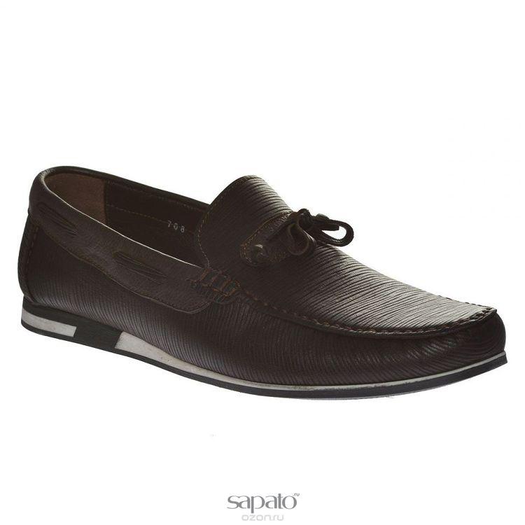Мокасины Dino Ricci Мокасины мужские. 708-133-01 коричневые