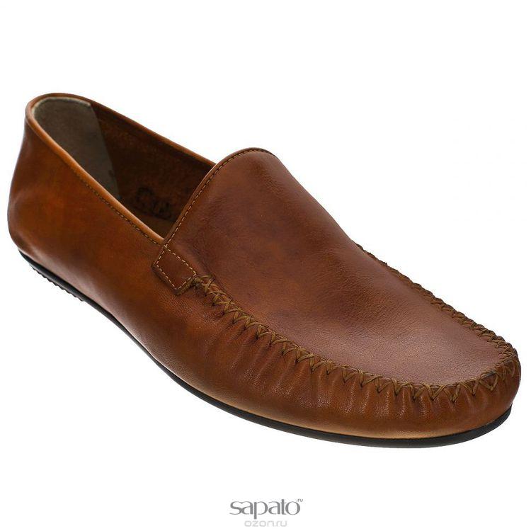 Мокасины Dino Ricci Мокасины мужские. 728-81-02 коричневые