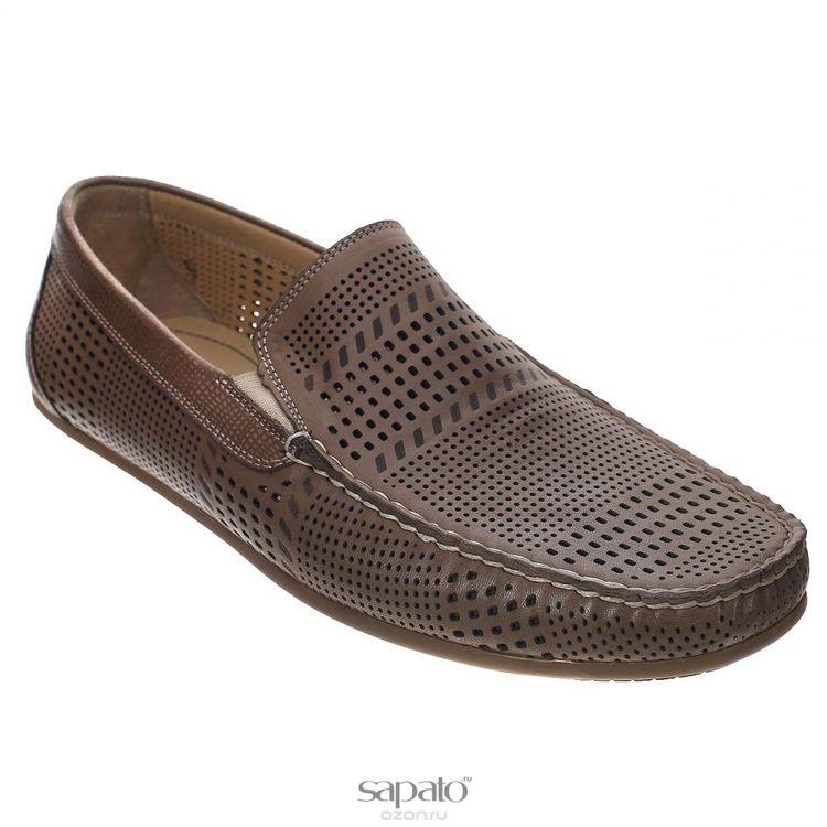 Мокасины Dino Ricci Мокасины мужские. 728-86-01 коричневые