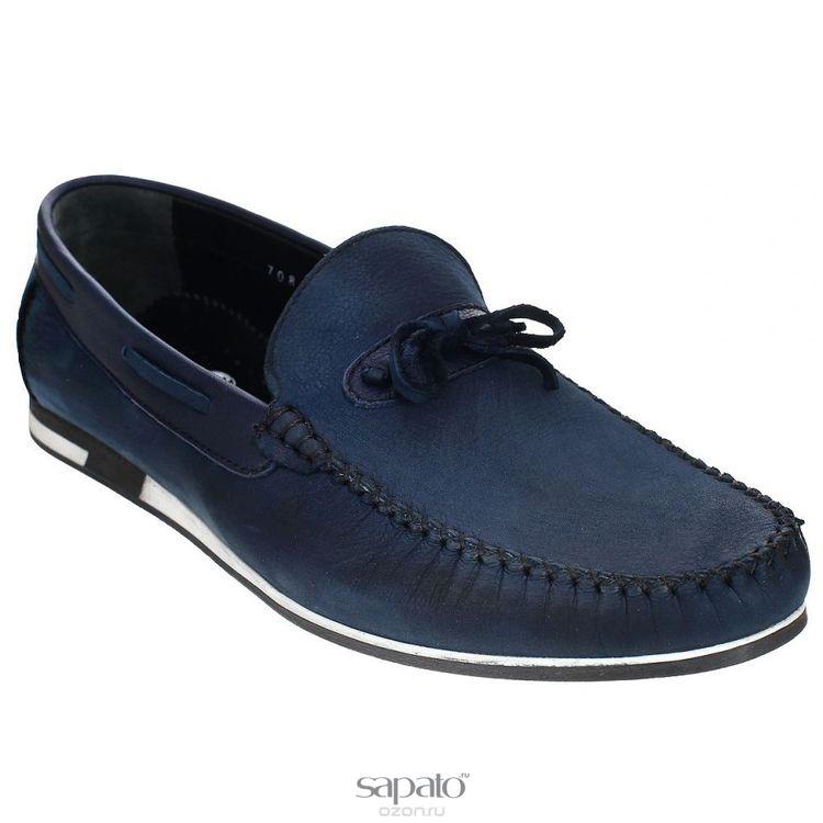 Мокасины Dino Ricci Мокасины мужские. 708-116-01 синие