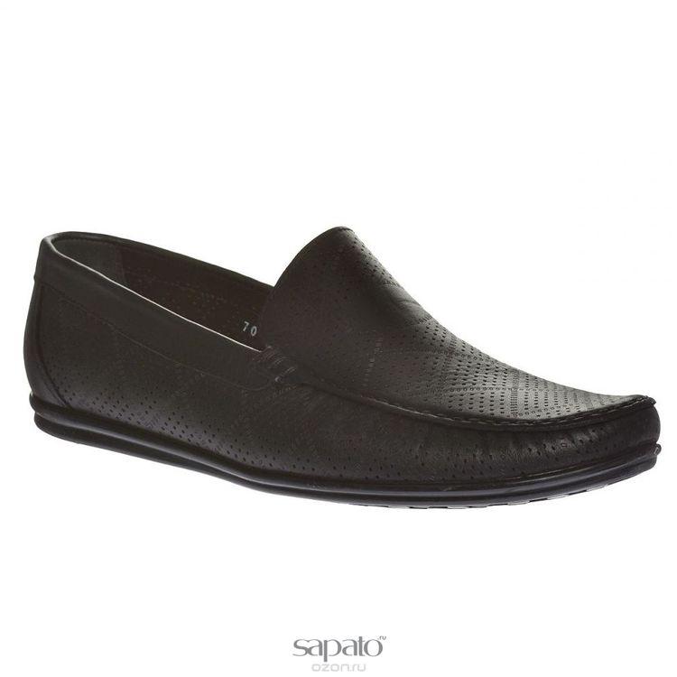 Мокасины Dino Ricci Мокасины мужские. 708-45-01 чёрные