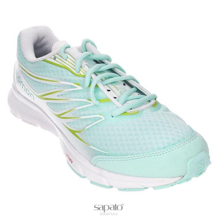 Кроссовки Salomon Кроссовки женские для бега Sense Link W зеленые