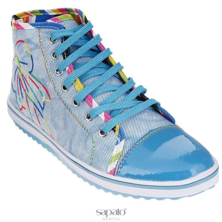 Кеды Dino Ricci Кеды женские Trend. 254-01-02(T) голубые