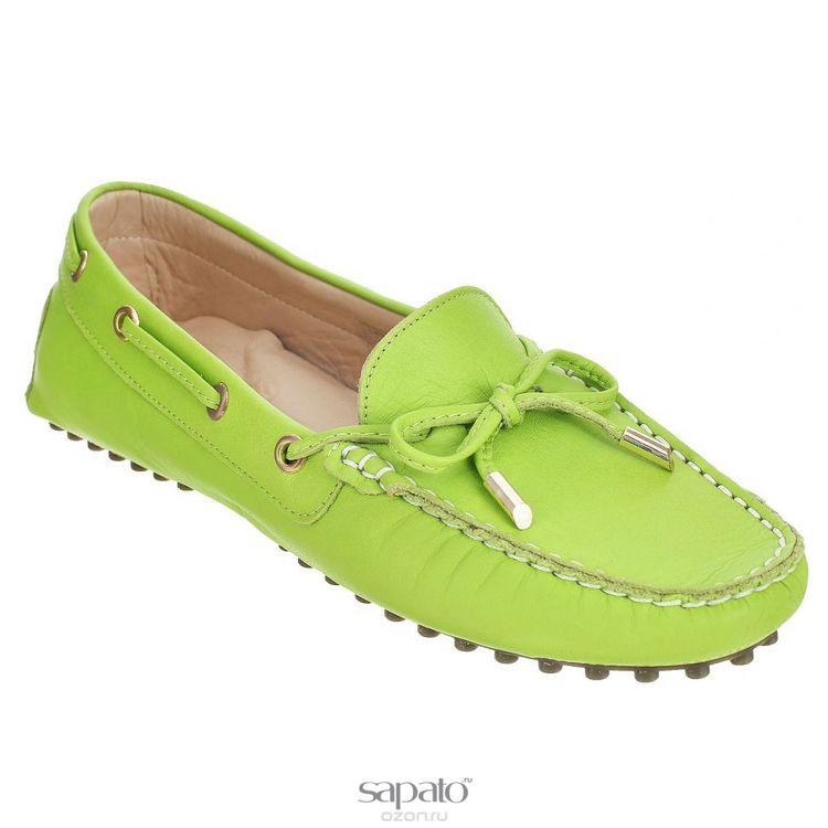 Мокасины Dino Ricci Мокасины женские . 838-48-01 зеленые
