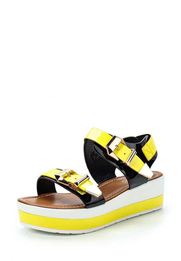 Босоножки Inario 15073-01-6 жёлтые