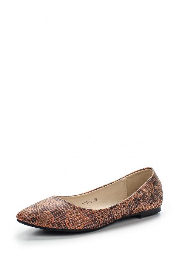 Балетки Vivian Royal J-031-3 коричневые