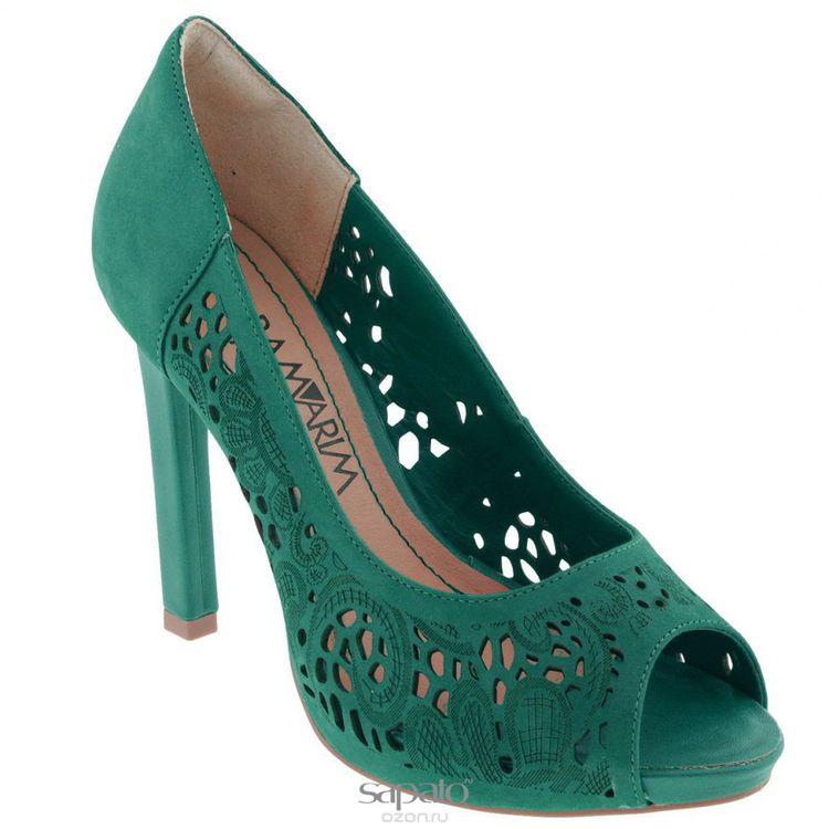 Туфли Ramarim Туфли летние женские. 14-22204 зеленые