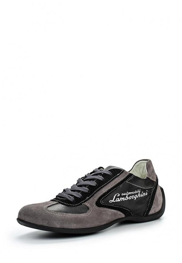 Кроссовки Automobili Lamborghini LAM 1001 серые, чёрные