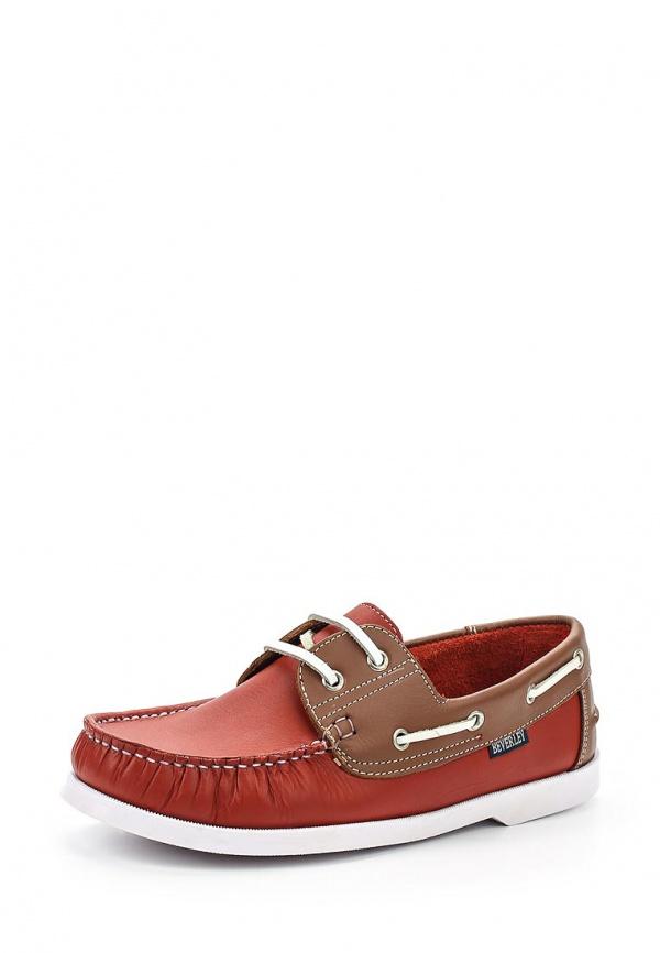 Топсайдеры Beverley B232676 коричневые, красные