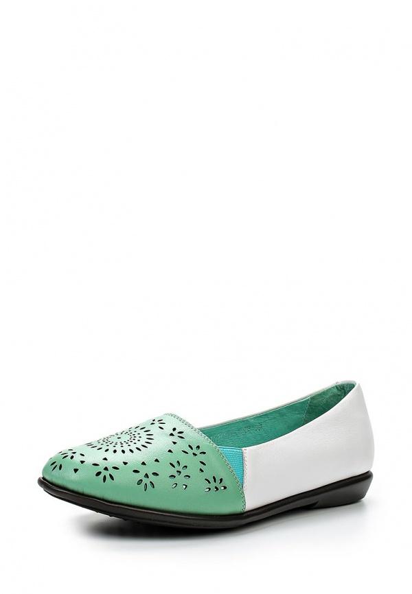 Лоферы Cooper 15204S-1-2K белые, зеленые