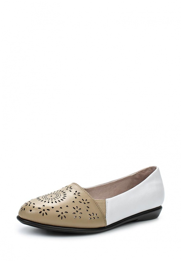 Туфли Cooper 15204S-1-1K белые, коричневые