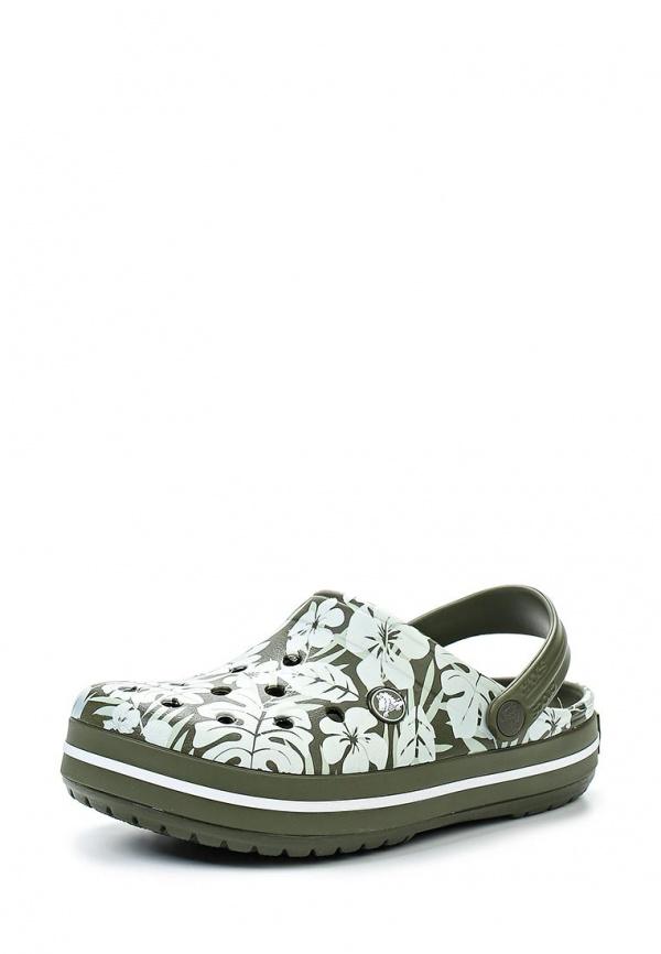 Сабо Crocs 200372-346 зеленые, хаки