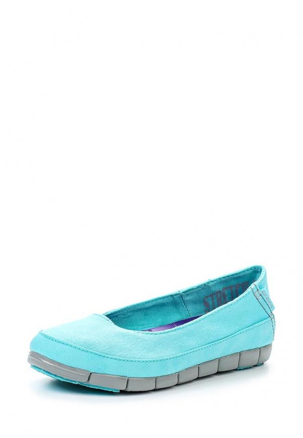 Слипоны Crocs 15317-4DL голубые